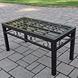 Oakland Living Noble Wrought Iron Patio Coffee Table