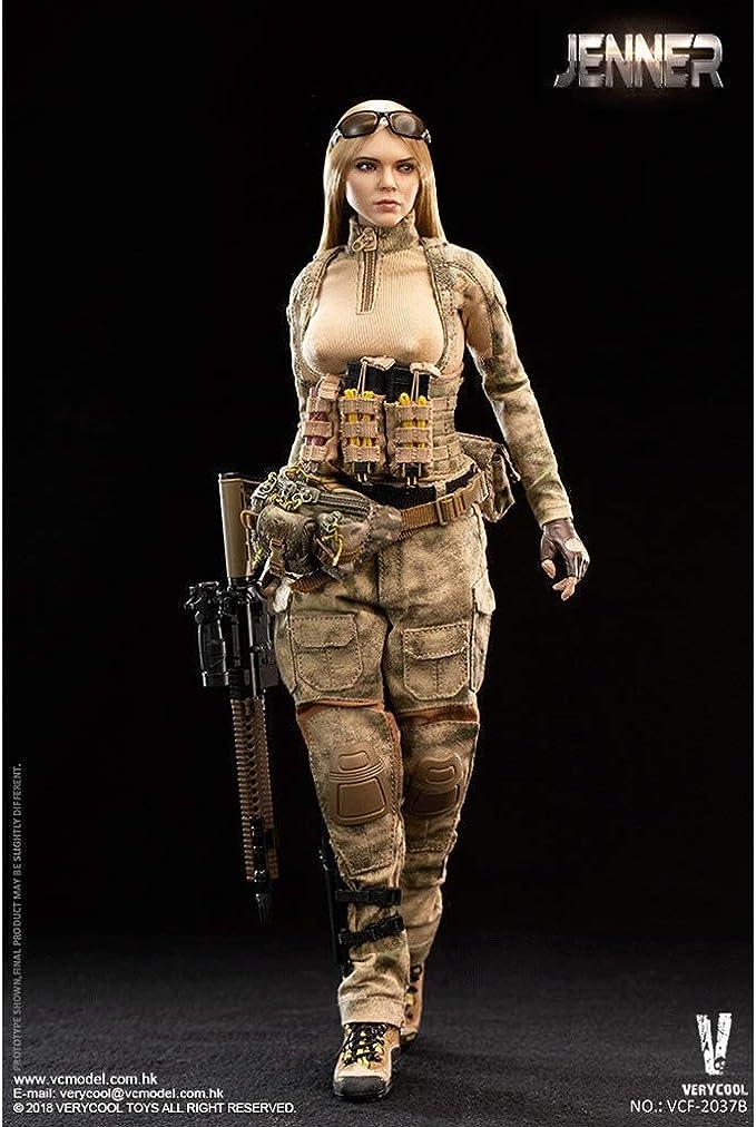LRWTY 1/6 Ejército Escala figura de acción militar, de 12 pulgadas A-TACS FG Mujeres soldado - JENNER (B Estilo) flexible soldado de sexo femenino modelo de recogida de juguetes militares Set de