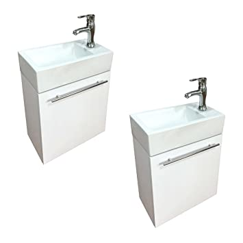 Bathroom Sink White Vanity With Towel Bar Faucet And Drain Wall