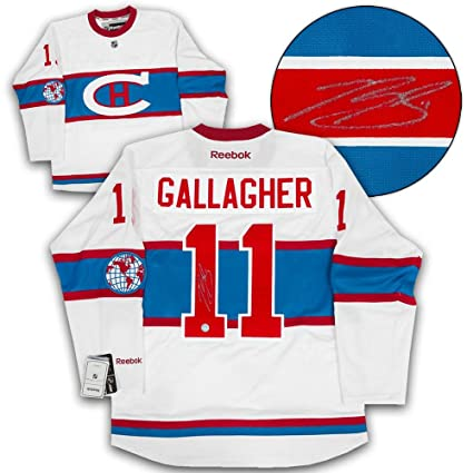 super cute d0d1b 712e3 Brendan Gallagher Montreal Canadiens Signed 2016 Winter ...