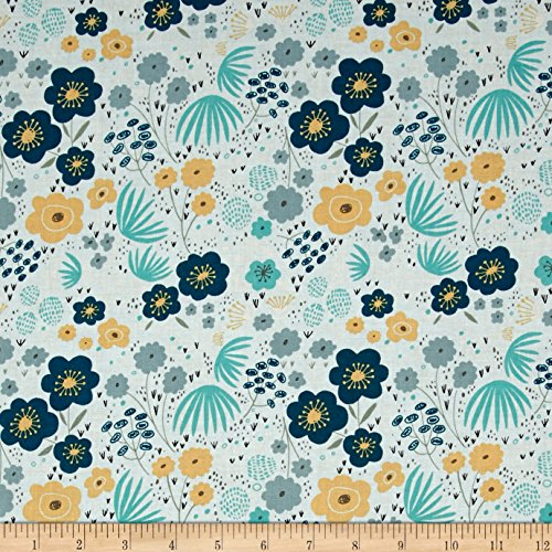 Riley Blake Ava Rose Floral Blue Fabric By The Yard