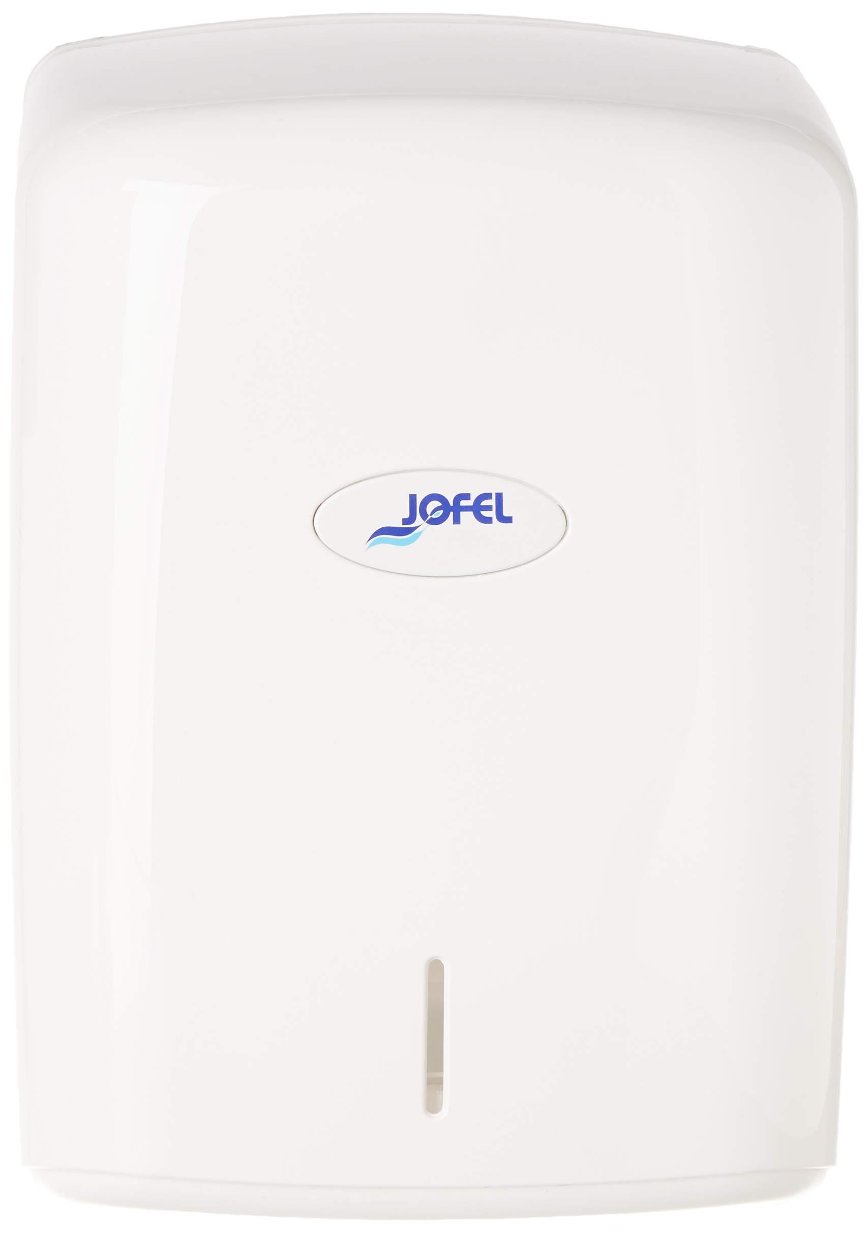 White Jofel Smart Paper Towel Round Dispenser