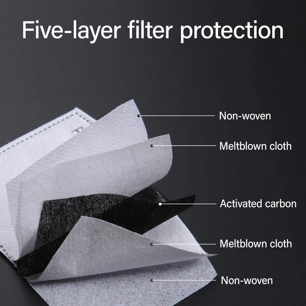 Cycling Cosy Activated Carbon Filter Filtration Cotton Sheet 20 Pack /… Air Filter for Dust Running Outdoor Activities