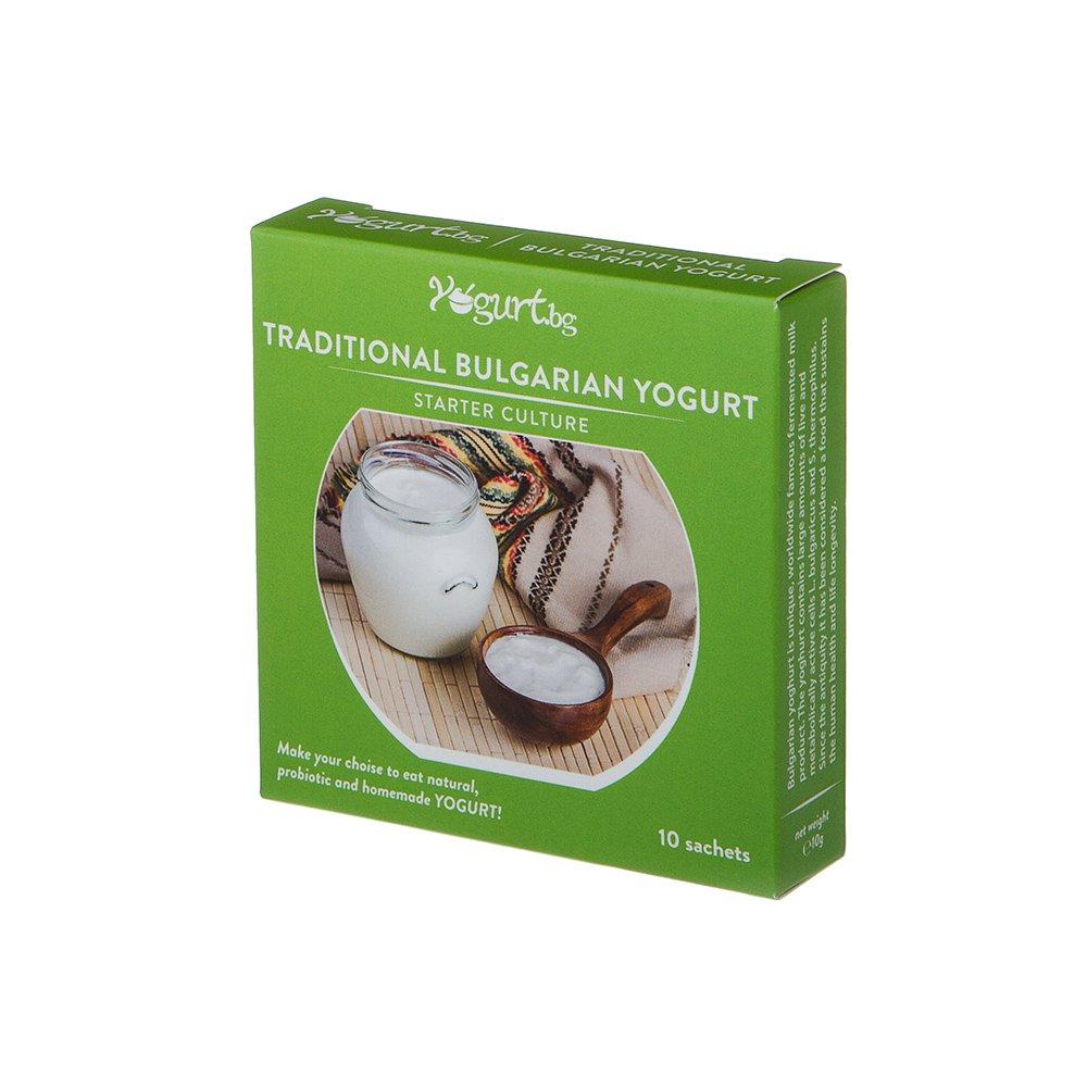 Yogurt.bg Starter Culture for Traditional Bulgarian Yogurt - 10 Sachets for 10 Liters Original Homemade Bulgarian Milk Product