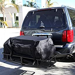SN#100000001253-1139-308 For Chrysler Rear Hitch Cargo Carrier Basket + Luggage Bag