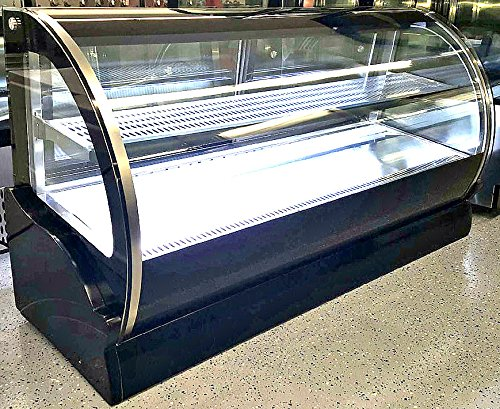 59 Inch Display Case Refrigerated Cold Deli Bakery Cake Pie Pastry Curved Glass Front Showcase LED Lighting Commercial Grade Restaurant - WPS550A