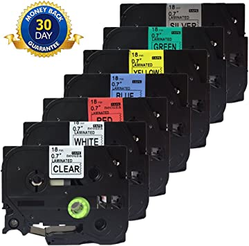 "3 PK Black Print on Label Tape For Brother TZ441 TZe-541 TZe-741 18mm 3//4/"" ST-5"