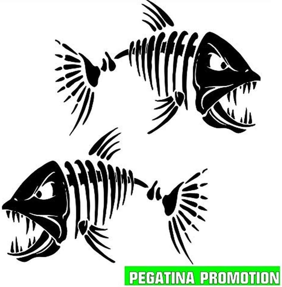 2 X Fische Gräten Aufkleber Ca 30x30 Cm Aufkleber Für Boot Segler Jetksi Bootsname Boots Aufkleber Seewasserfest Boote Seglen Auto Bootsaufkleber Kennzeichen Boote Angler Wassersport Sticker Decal Sport Freizeit