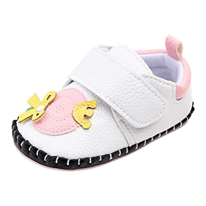 RVROVIC Unisex Baby Boys Girls Sandals Anti-Slip Rubber Sole PU Toddler Summer Shoe Prewalker Pink