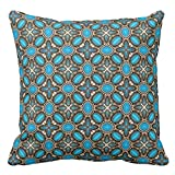 Zazzle American Southwest Turquoise & Silver Jewelry Lumbar Pillow 20'' x 20''