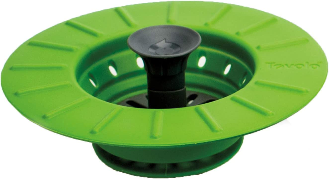 Tovolo Collapsible Stopper and Strainer - Spring Green
