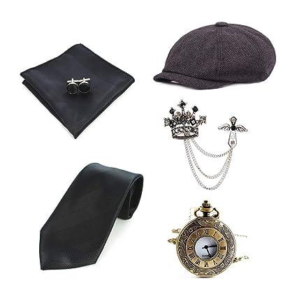 Amazon.com: 6 piezas para hombre de los años 20, accesorios ...