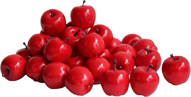 paquete de 20 unidades Decoraci/ón realista para /árbol de Navidad en forma de peque/ñas manzanas rojas