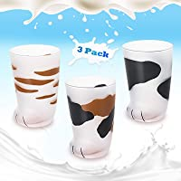 Cat Foot Claw Cup Cat Paw Frosted Cup Kids Milk Glass Milk Cup Cute Cat Foot Claw Print Mug Breakfast Milk Glass Cup…