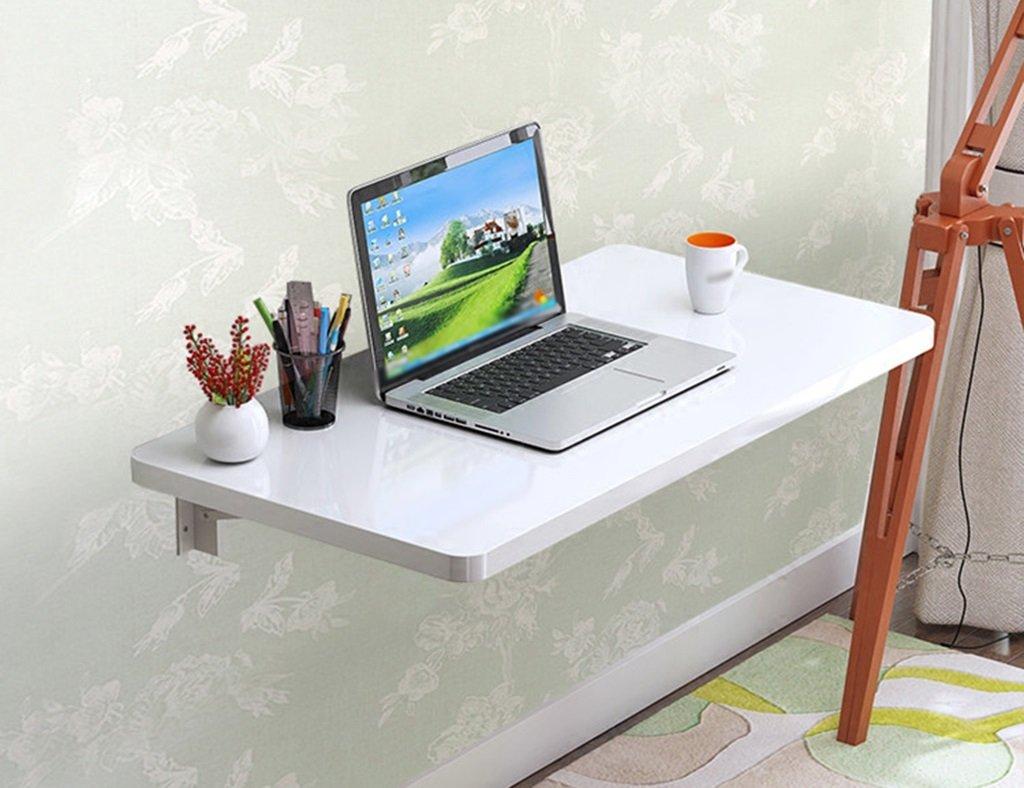 壁掛けラップトップデスクペイント折り畳み式コンピュータデスク壁掛けテーブル学習テーブルダイニングテーブルカラーサイズオプション ( 色 : 白 , サイズ さいず : 60cm*40cm ) B07B728TRJ 60cm*40cm|白 白 60cm*40cm