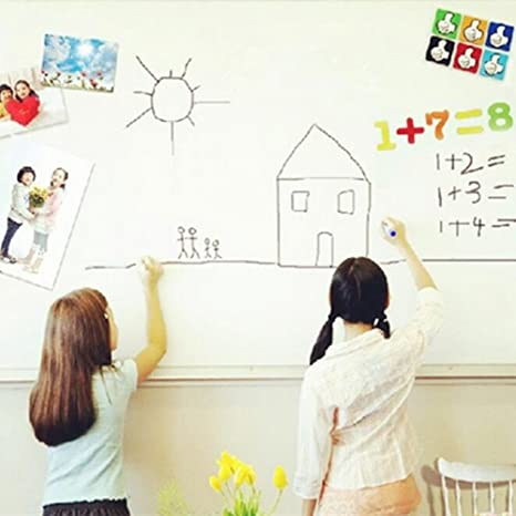 Whiteboard Aufkleben Extra Groß Selbstklebend 45 x 200 cm  PVC zurück klebrige