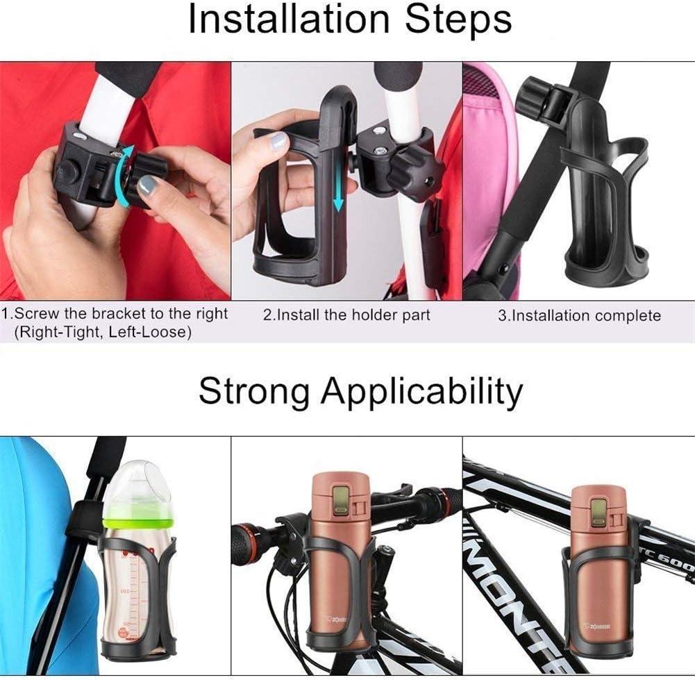 cochecito de beb/é Mify Portavasos universal para bicicleta portabidones de bebidas cochecito de beb/é y silla de ruedas