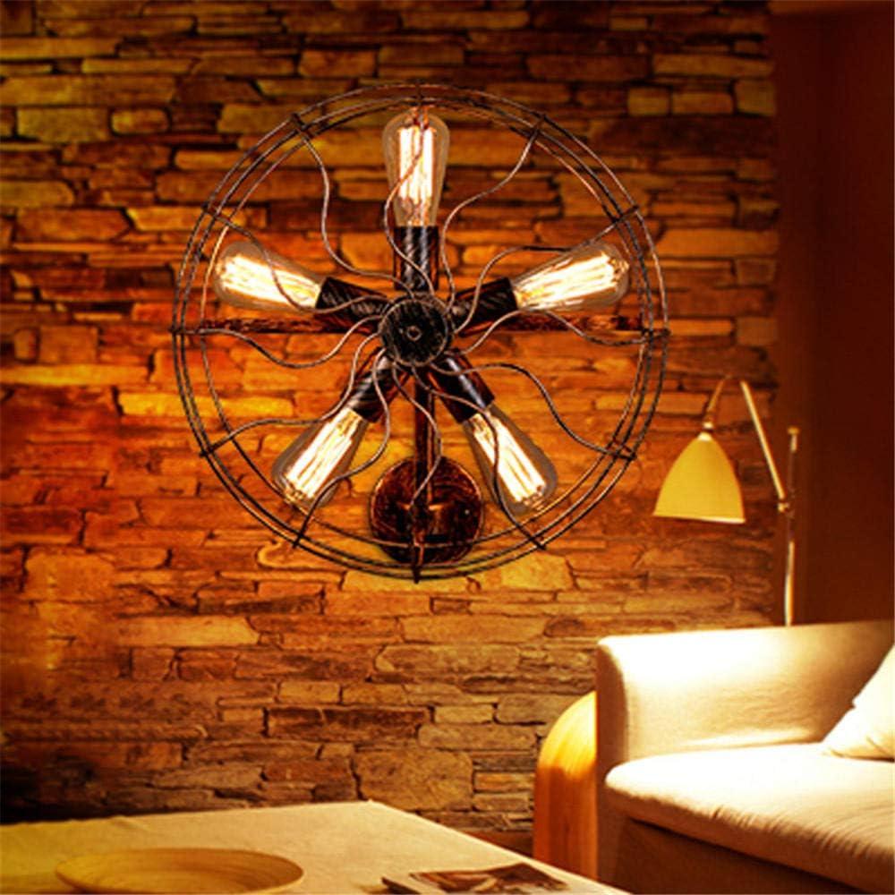 Retro al aire libre llevó la lámpara de pared ventilador industrial lámpara pared restaurante bar cafetería ático iluminación escaleras exterior pared@Color Luz De La Pared Al Aire Libre Retro