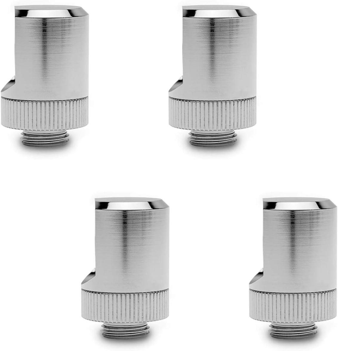 EKWB EK-Torque 90° Angled Fitting, Nickel, 4-Pack