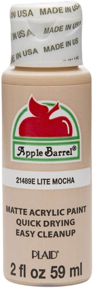 Apple Barrel Acrylic Paint in Assorted Colors (2 oz), 21489, Lite Mocha