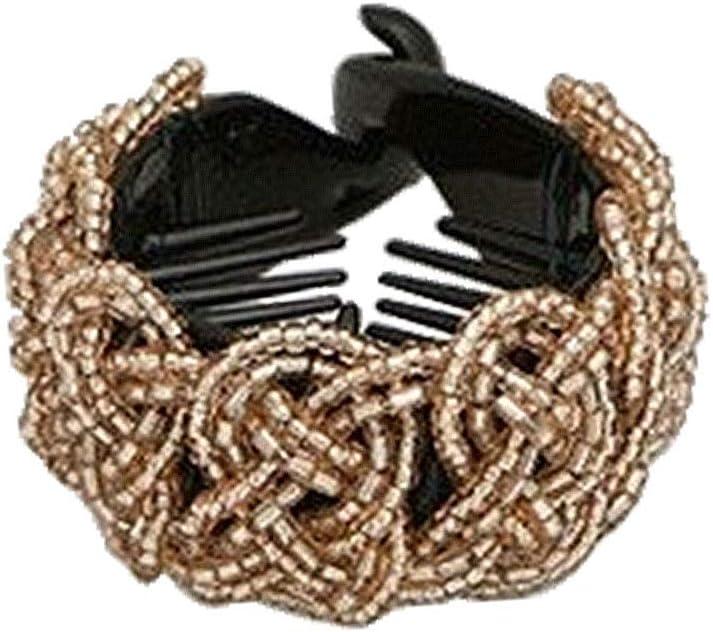 Beaupretty Tenedor de Cola de Caballo Hebilla de pasadores de Pan Garras agarran Horquillas de Diamantes de imitación