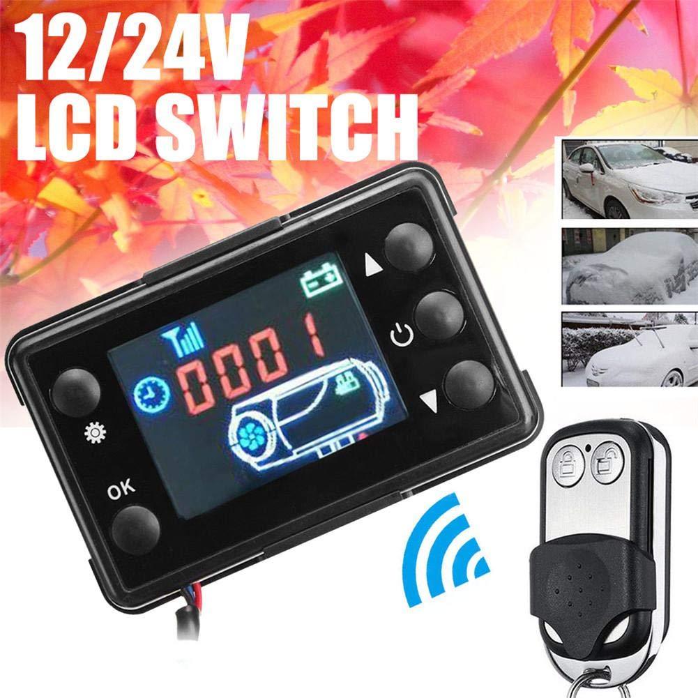Lâ Vestmon 12V / 24V Auto GM Klimaanlage thermostatische Standheizung LCD Display Schalter mit Fernbedienung Lâ Vestmon