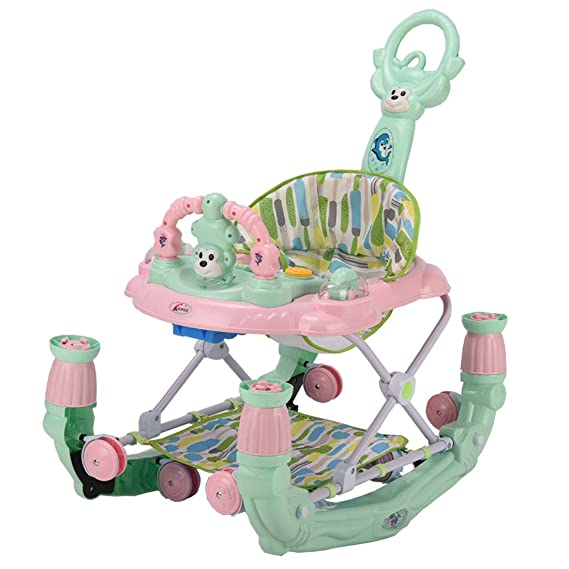 GTC Baby Apple Walker Function Walker Cum Rocker 2 in 1 (ITN - 815-1) (Light Green)