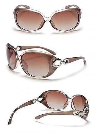 gafas de Sol polarizadas gafas Mujeres grandes Mujeres marco ...