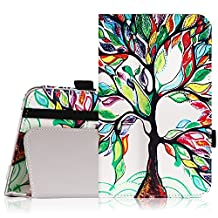 MoKo Samsung Galaxy Tab E Lite 7.0 Case - Slim Folding Cover Case for Galaxy Tab E lite 7.0 SM-T113 & Tab 3 Lite T110 / T111 7.0 Inch Android Tablet, Lucky TREE
