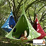 Cacoon Single, Tenda sospesa,, colore: verde