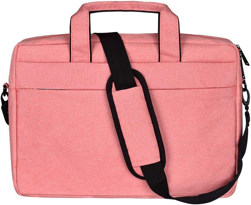 BAKUN Laptop Tablet Sleeve Bag 15.6 Inch Briefcase Shoulder Messenger Bag Water Repellent Laptop Tablet Bag Bussiness Carrying Handbag Laptop Sleeve for Business/College/Men/Women(Pink)