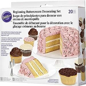 Wilton 2104-1367 - Set decoración básica crema de mantequilla, 20 piezas