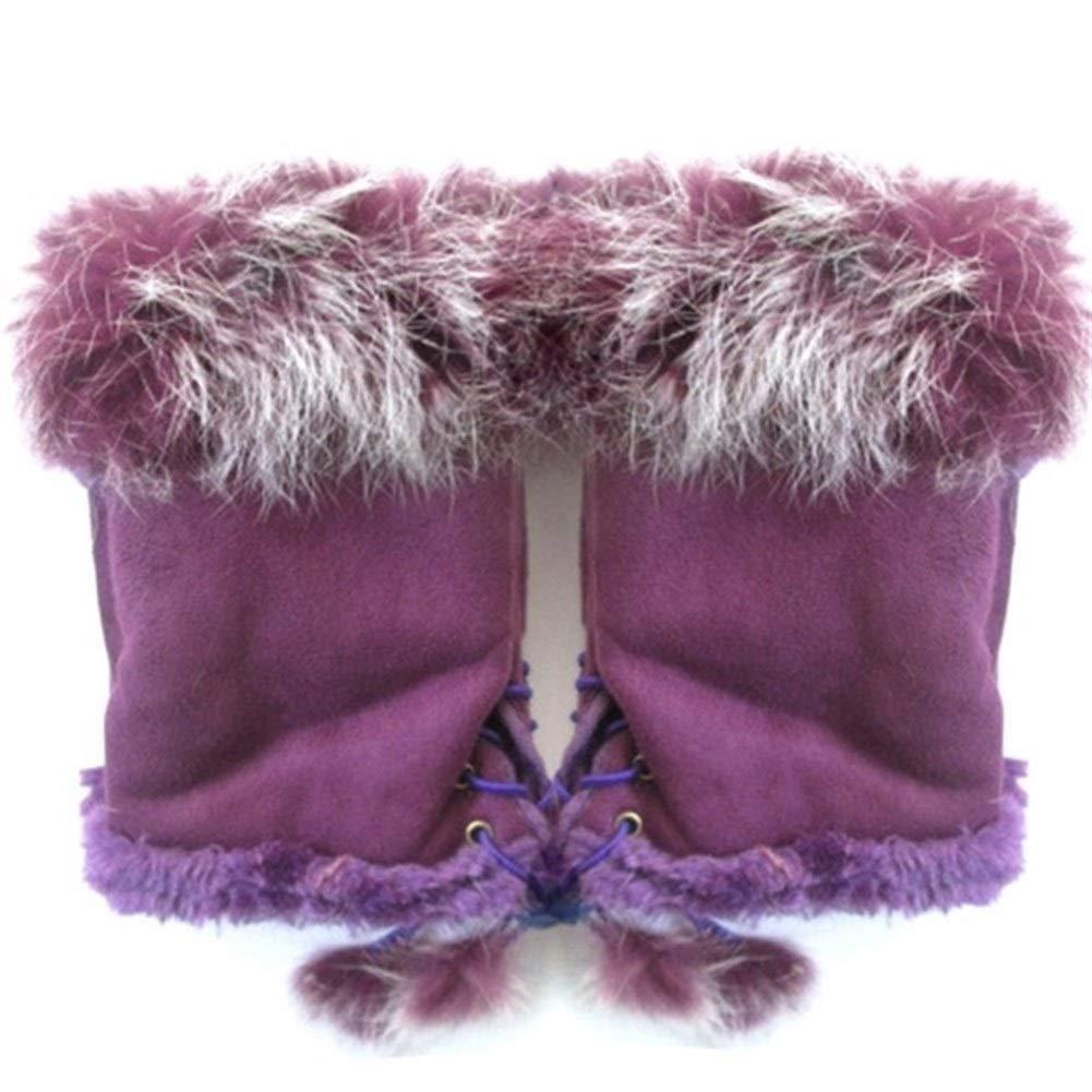LINDANIG Fashion Suede Leather Gloves Faux Rabbit Hair Wrist Fingerless Mittens For Women Half Finger Female Mitten