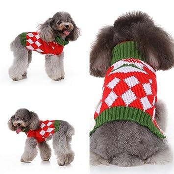 Maglioncino lavorato a maglia per cucciolo di cane o gatto caldo indumento invernale per animale domestico
