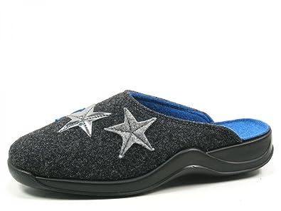 Rohde 2306-82 Vaasa-D Schuhe Damen Hausschuhe Pantoffeln Filz Weite G ,  Schuhgröße 37 Farbe Grau  Amazon.de  Schuhe   Handtaschen ff4e2e5bf4