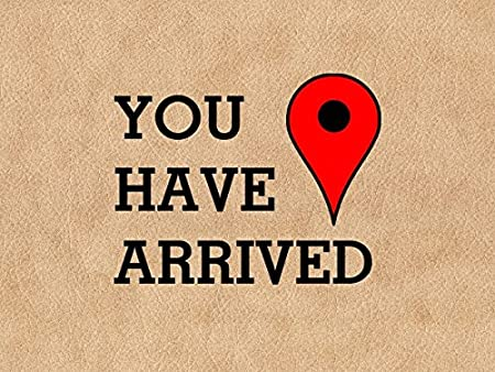 You Have Arrived At Your Destination Modern Funny Doormat: Amazon.co.uk:  Garden & Outdoors