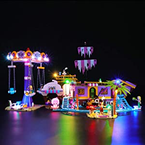 BRIKSMAX Led Lighting Kit for Heartlake City Amusement Pier - Compatible with Lego 41375 Building Blocks Model- Not Include The Lego Set