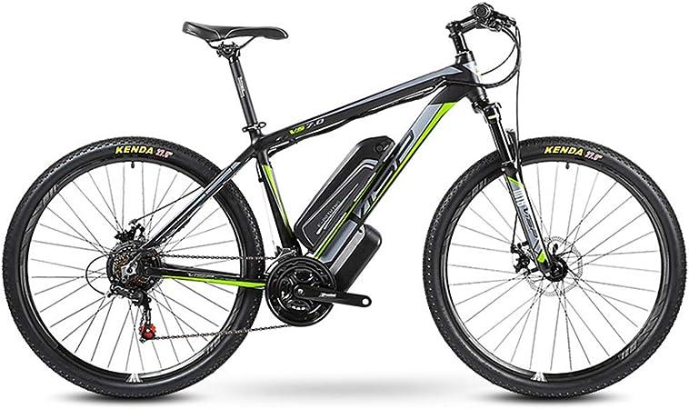 HJHJ Bicicleta de montaña eléctrica Bicicleta híbrida de 27 ...