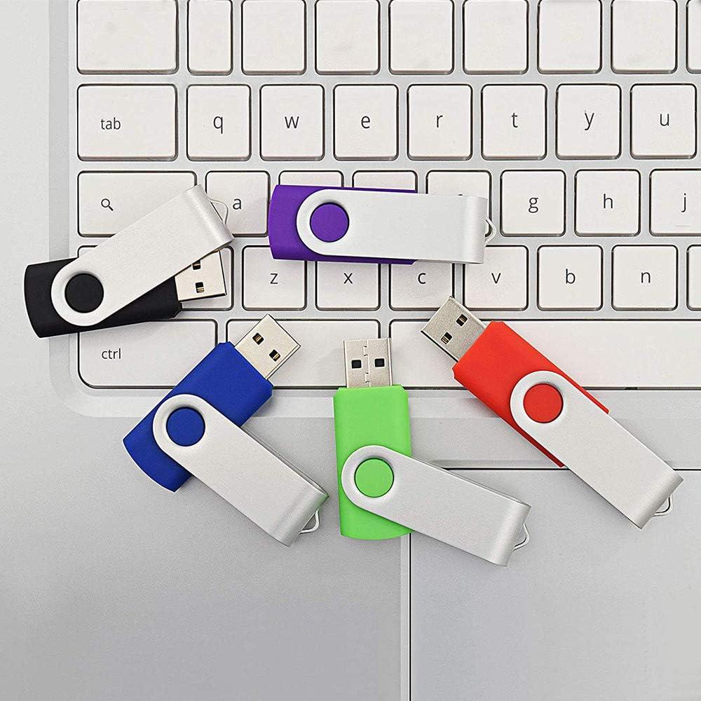 Custom USB Flash Drive 8GB 25 Pack Wholesale Bulk Personalized USB Thumb Drives Customized Logo USB Drive Memory Stick 8GB, 25PCS Black