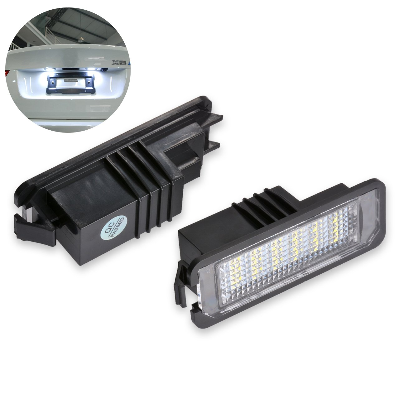 NGCAT lampadine a 18 LED 3528 SMD per targa adatte a sistemi CanBus confezione da 2 pezzi