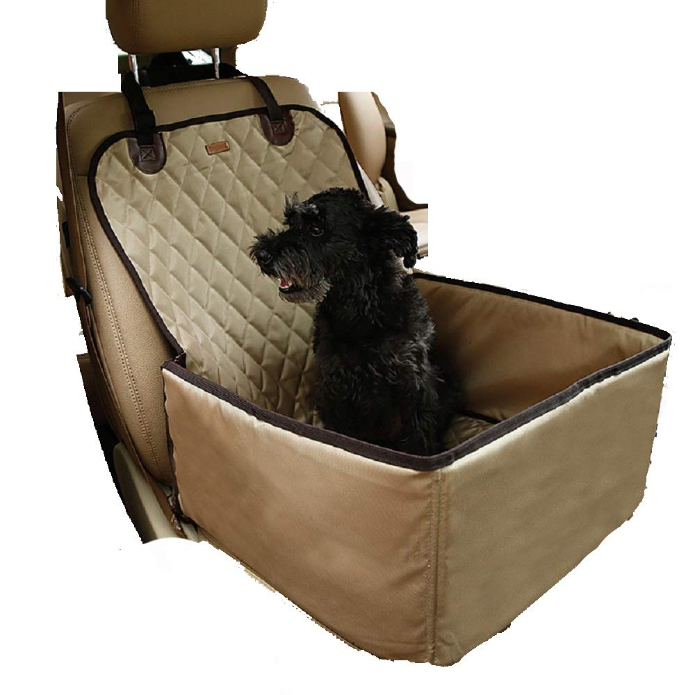 Beige Pet Bag Hammock 2 in 1 Carrier for Dog Black Nylon Waterproof Travel Folding Thick Pet Cat Dog Car Booster Seat Cover Outdoor,Beige
