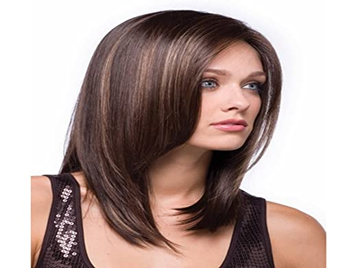 HM Pelucas Long Straight Women Wigs Synthetic Hair Wig +Free hairnet