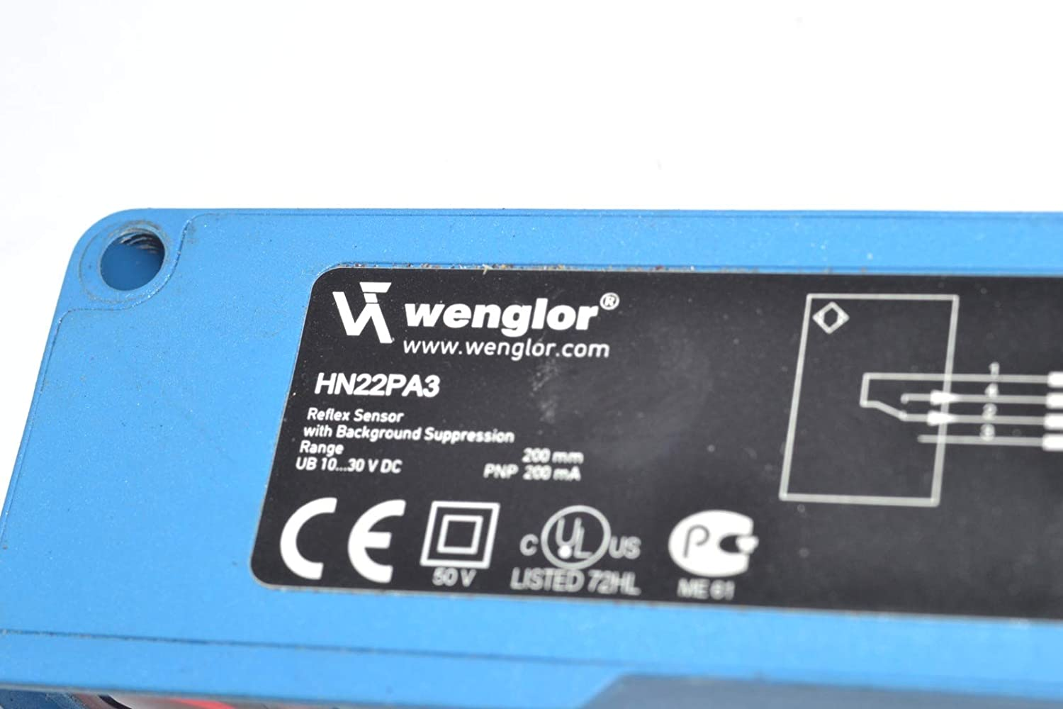 WENGLOR HN22PA3 Reflex Sensor, with Background Suppression: Amazon.com: Industrial & Scientific