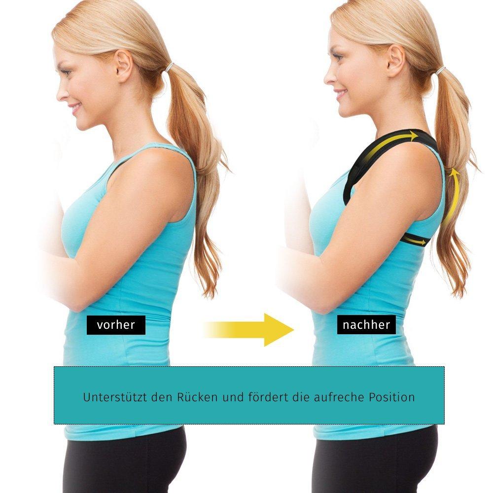 Geradehalter zur Haltungskorrektur gegen Rückenschmerzen