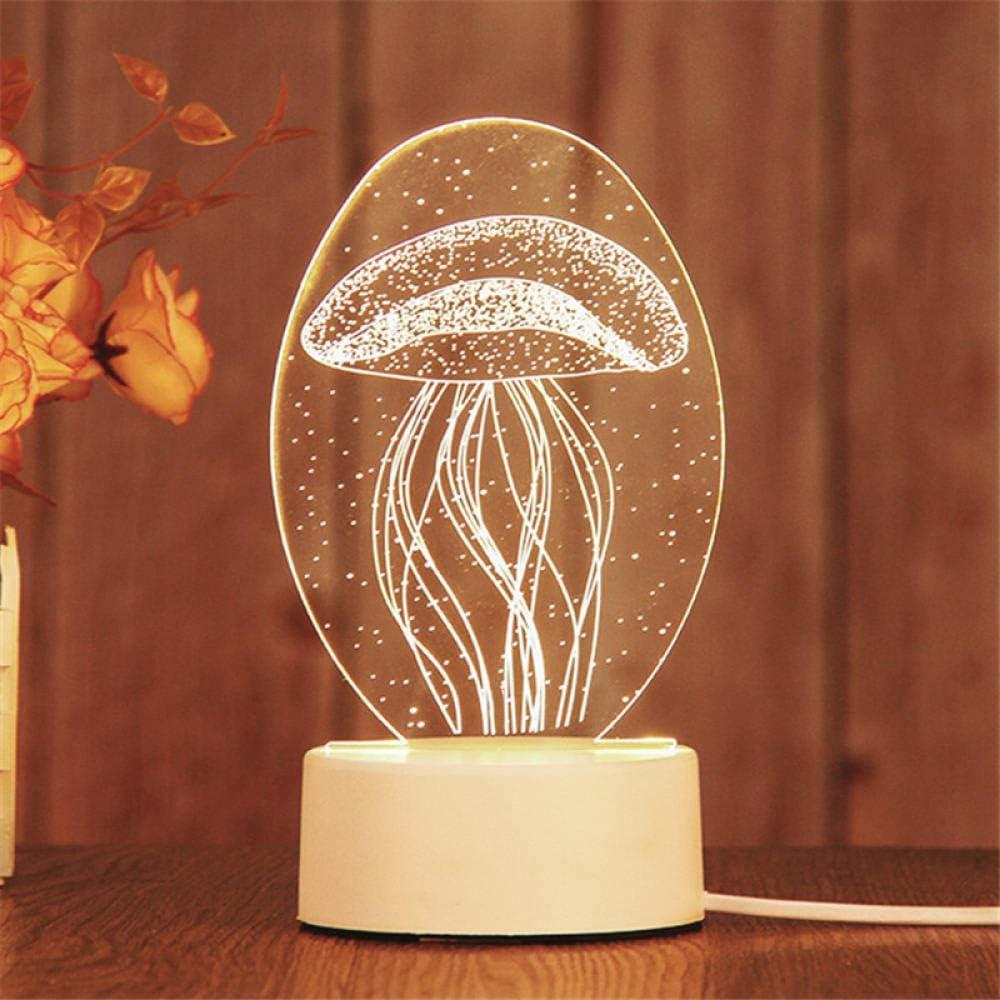 Veilleuse Cadeau créatif Lampe de table de décoration LED 3D-Rose Éclairage Lampe de Nuit Chevet Veilleuse Hibou