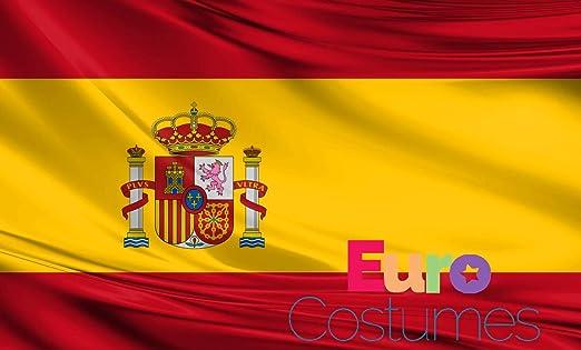 Bandera de España de poliéster gigante de 2, 4 x 1, 5 m: Amazon ...