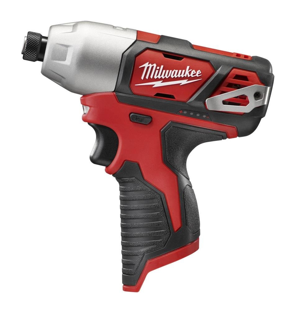 Milwaukee 2462-20 M12 1/4 Inch Hex Shank 12 Volt Lithium Ion Cordless 2,500 RPM 1,000 Inch Pounds Impact Driver w/LED Light and Fuel Gauge (Battery Not Included, Power Tool Only)
