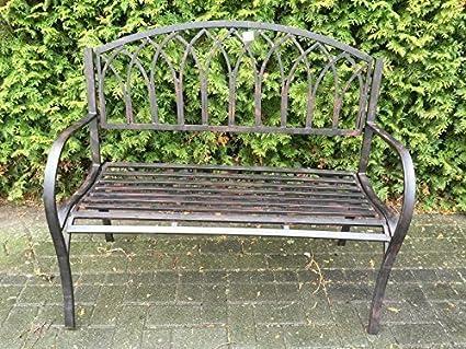 Gartenbank Jugendstil Bank Parkbank Shabby Chic Sitzbank Gartenmöbel Eisenbank