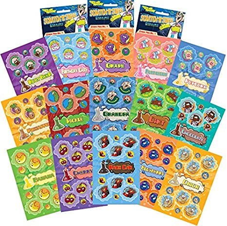 Stinky's Scratch /& Sniff Stickers Dr Banana Mint Condition!!