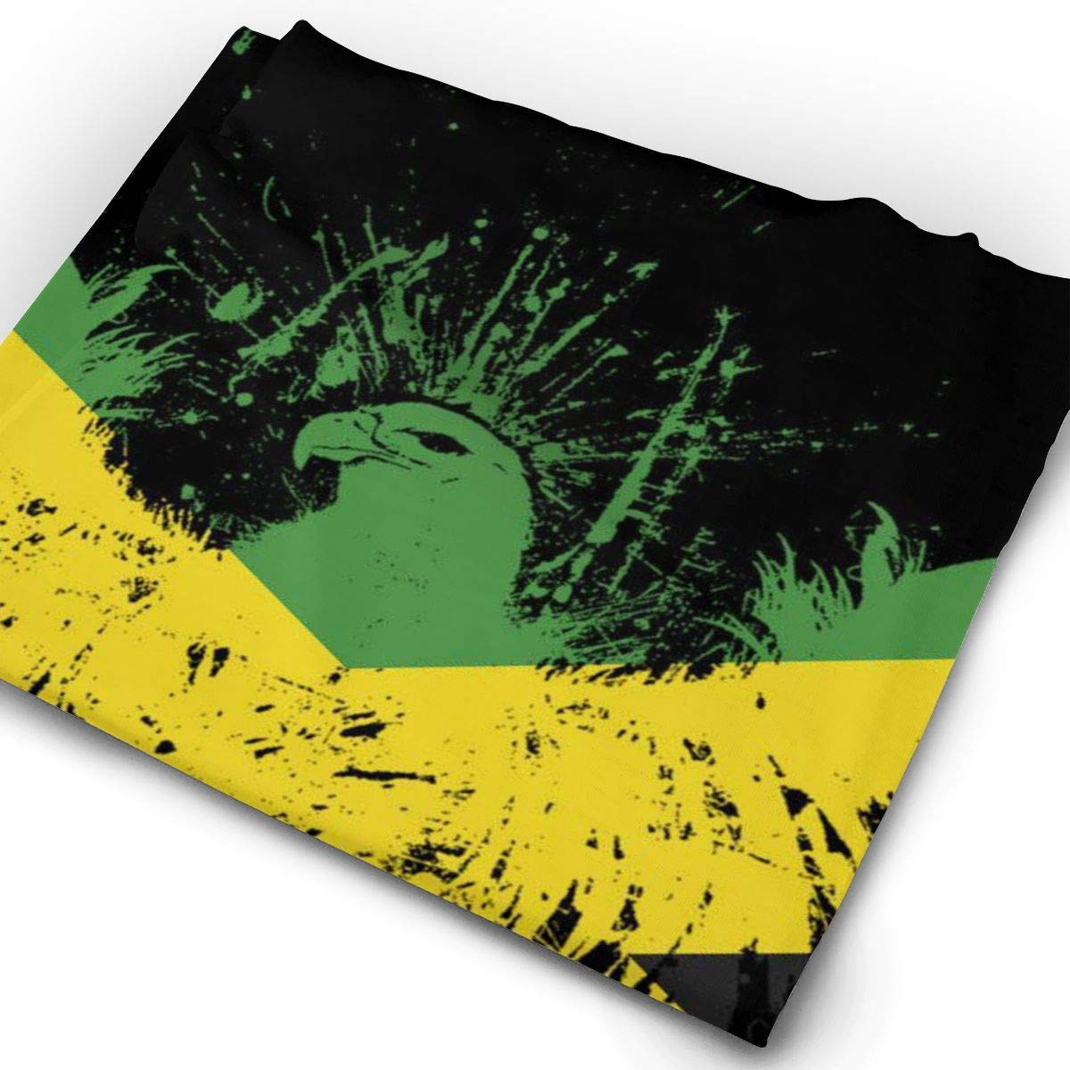Retro Jamaican Flag Eagle Unisex Fashion Quick-Drying Microfiber Headdress Outdoor Magic Scarf Neck Neck Scarf Hooded Scarf Super Soft Handle